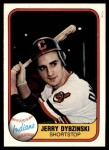 1981 Fleer #399  Jerry Dybzinski  Front Thumbnail