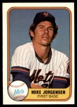 1981 Fleer #324  Mike Jorgensen  Front Thumbnail