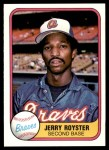 1981 Fleer #250  Jerry Royster  Front Thumbnail