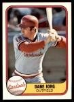 1981 Fleer #543  Dane Iorg  Front Thumbnail