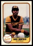 1981 Fleer #484  Dave Winfield  Front Thumbnail