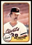 1981 Fleer #447  Bob Knepper  Front Thumbnail
