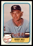 1981 Fleer #625  Buddy Bell  Front Thumbnail
