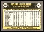 1981 Fleer #591  Mario Guerrero  Back Thumbnail