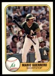 1981 Fleer #591  Mario Guerrero  Front Thumbnail