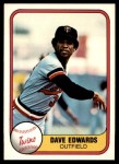 1981 Fleer #568  Dave Edwards  Front Thumbnail