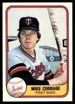 1981 Fleer #566  Mike Cubbage  Front Thumbnail