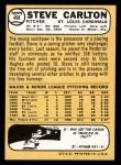 1968 Topps #408  Steve Carlton  Back Thumbnail