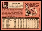 1969 Topps #210  Felix Millan  Back Thumbnail