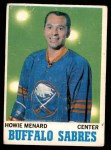 1970 O-Pee-Chee #124  Howie Menard  Front Thumbnail