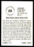 1976 SSPC #11  Mike Lum  Back Thumbnail