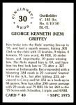 1976 SSPC #40  Ken Griffey  Back Thumbnail