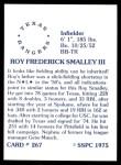 1976 SSPC #267  Roy Smalley  Back Thumbnail