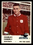 1961 Fleer #68  Charley Conerly  Front Thumbnail