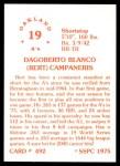 1976 SSPC #492  Bert Campaneris  Back Thumbnail