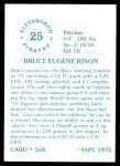 1976 SSPC #568  Bruce Kison  Back Thumbnail