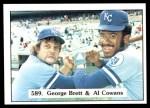 1976 SSPC #589   -  George Brett / Al Cowens Checklist Front Thumbnail