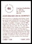 1976 SSPC #438  Rick Dempsey  Back Thumbnail