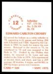 1976 SSPC #520  Ed Crosby  Back Thumbnail
