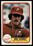 1981 Fleer #640 HRK Mike Schmidt  Front Thumbnail