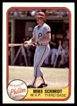 1981 Fleer #5   -  Mike Schmidt MVP Front Thumbnail