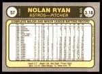1981 Fleer #57  Nolan Ryan  Back Thumbnail