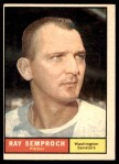 1961 Topps #174  Ray Semproch  Front Thumbnail
