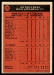 1972 O-Pee-Chee #227   -  Nelson Briles 1971 World Series - Game #5 Back Thumbnail