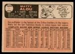 1966 O-Pee-Chee #94  Matty Alou  Back Thumbnail