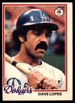 1978 O-Pee-Chee #222  Dave Lopes  Front Thumbnail
