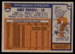 1976 Topps #405  Andy Russell  Back Thumbnail