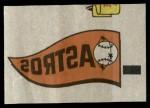 1966 Topps Rub Offs    Houston Astros Pennant Front Thumbnail