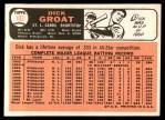 1966 Topps #103 xTR Dick Groat   Back Thumbnail