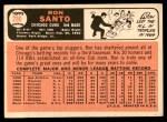1966 Topps #290  Ron Santo  Back Thumbnail