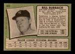 1971 Topps #683  Bill Burbach  Back Thumbnail
