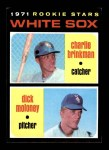 1971 Topps #13   -  Charlie Brinkman / Dick Moloney White Sox Rookies   Front Thumbnail