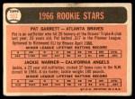 1966 Topps #553   -  Pat Garrett / Jackie Warner Rookies Back Thumbnail
