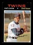 1971 Topps #210  Rod Carew  Front Thumbnail