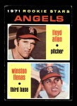 1971 Topps #152   -  Lloyd Allen / Winston Llenas Angels Rookies Front Thumbnail