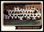 1974 Topps #281   Giants Team Front Thumbnail