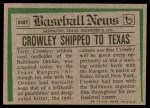 1974 Topps Traded #648 T  -  Terry Crowley Traded Back Thumbnail