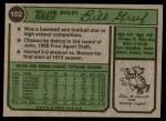 1974 Topps #102 SD Bill Greif  Back Thumbnail