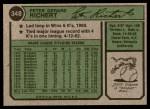 1974 Topps #348  Pete Richert  Back Thumbnail