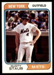 1974 Topps #629  Rusty Staub  Front Thumbnail
