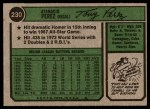 1974 Topps #230  Tony Perez  Back Thumbnail