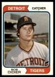 1974 Topps #482  Bob Didier  Front Thumbnail