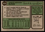 1974 Topps #563  Hal McRae  Back Thumbnail