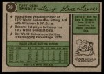 1974 Topps #79  Gene Tenace  Back Thumbnail