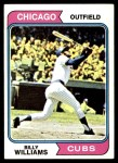 1974 Topps #110  Billy Williams  Front Thumbnail