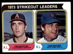 1974 Topps #207   -  Nolan Ryan / Tom Seaver Strikeout Leaders   Front Thumbnail